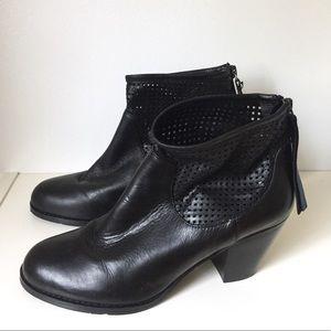 Rud by Rudsak Black Leather Ankle Booties 38